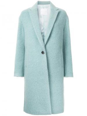 Классическое пальто Cityshop. Цвет: зелёный