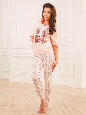 Комплект одежды CLEO. Цвет: персиковый