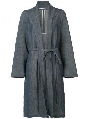 Пальто с поясом Rosetta Getty. Цвет: синий