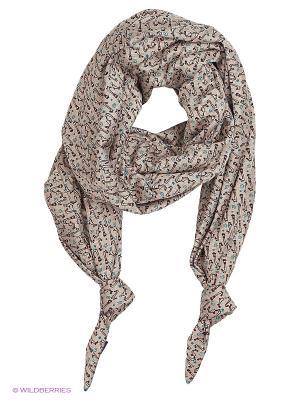 Двойной шарф-долька с узелками Норд Оланж Ассорти. Цвет: бежевый