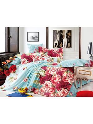 Постельное белье Mechta Семейный Amore Mio. Цвет: голубой, красный