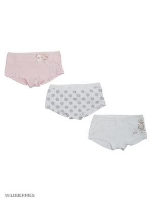 Набор из 3 трусов Ritta Romani. Цвет: белый, бледно-розовый, светло-серый