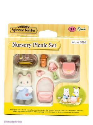 Набор Пикник в детском саду Sylvanian Families. Цвет: бледно-розовый, молочный, оранжевый
