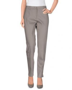 Повседневные брюки CAPPELLINI by PESERICO. Цвет: голубиный серый