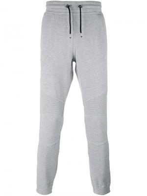 Классические спортивные брюки Hydrogen. Цвет: серый