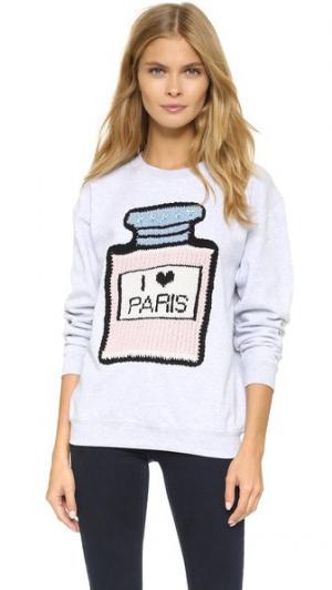 Толстовка с надписью «I Love Paris» Michaela Buerger. Цвет: серый