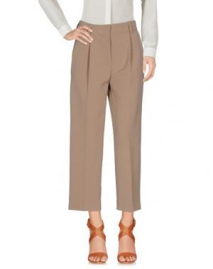 Повседневные брюки TWELVE-T. Цвет: хаки
