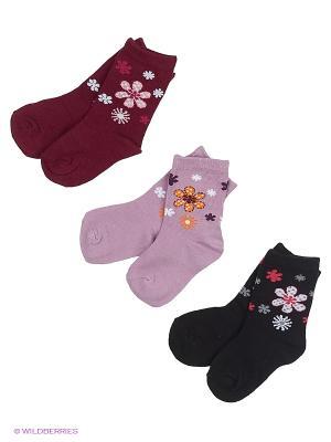 Носки DAG. Цвет: бордовый, розовый
