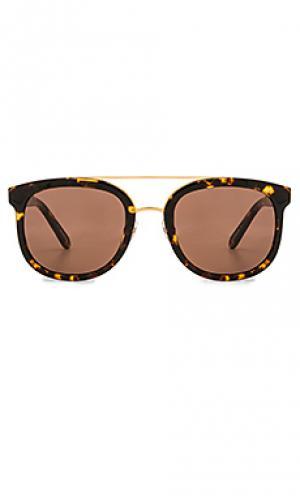 Солнцезащитные очки cl-10 KREWE du optic. Цвет: коричневый