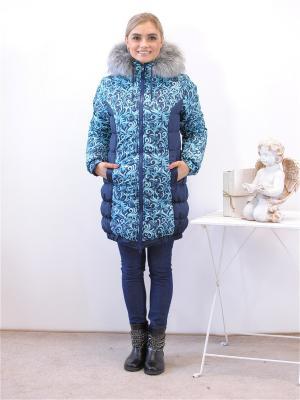 Куртка Адель. Цвет: белый, синий, темно-синий