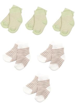 Носки детские махровые ,комплект 6 пар Malerba. Цвет: салатовый, бежевый