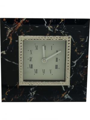 Часы  Мрамор JARDIN D'ETE. Цвет: черный, белый