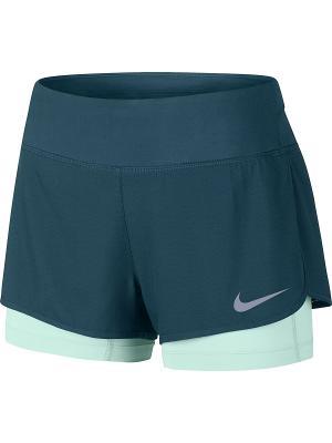 Шорты W NK FLX 2IN1 SHORT RIVAL Nike. Цвет: синий, зеленый