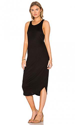 Платье в рубчик kirra Issa de mar de'. Цвет: черный