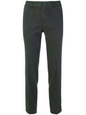 Укороченные строгие брюки Pt01. Цвет: зелёный