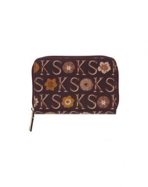 Бумажник KEN SCOTT. Цвет: баклажанный