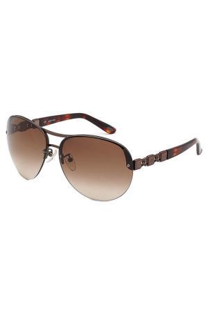 Очки солнцезащитные Loewe. Цвет: коричневый