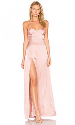 Вечернее платье с вшитым бюстгальтером Michelle Mason. Цвет: розовый