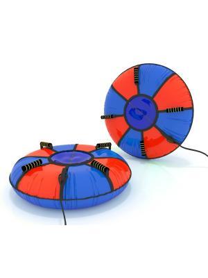Санки-ватрушка (тюбинг) 110 см Мультиколор SPORTREST. Цвет: синий, красный