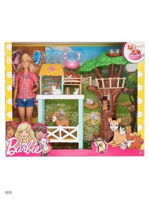 Игровой набор Спасатель животных Barbie. Цвет: розовый, коричневый