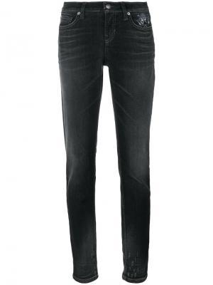 Декорированные джинсы Cambio. Цвет: серый