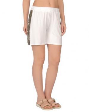 Пляжные брюки и шорты LES COPAINS BEACHWEAR. Цвет: белый