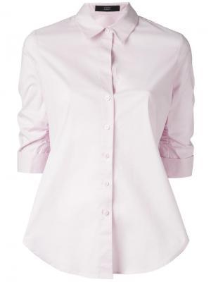 Рубашка с рукавами три четверти Steffen Schraut. Цвет: розовый и фиолетовый