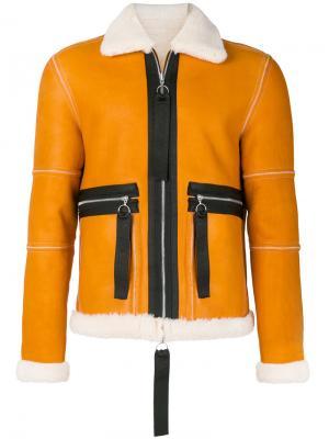 Двусторонняя куртка Ferrman Blood Brother. Цвет: жёлтый и оранжевый