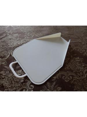 Разделочная доска с направляющими бортиками для точного высыпания разделанного продукта в посуду Зеленая планета. Цвет: молочный