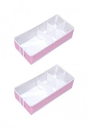 Система хранения для белья 2 пр. Homsu. Цвет: розовый