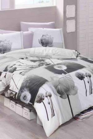 Single Quilt Cover Set Victoria. Цвет: white, grey, black