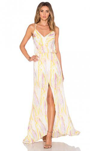Макси платье malena Karina Grimaldi. Цвет: желтый