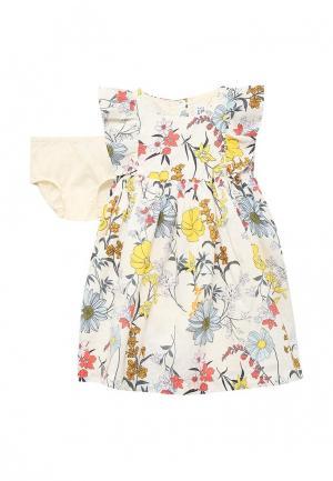 Платье Gap. Цвет: бежевый