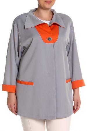 Жакет EVA Collection. Цвет: серый с оранжевым