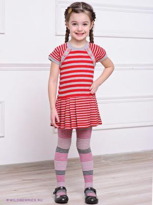 Платье Lilax. Цвет: красный, серый