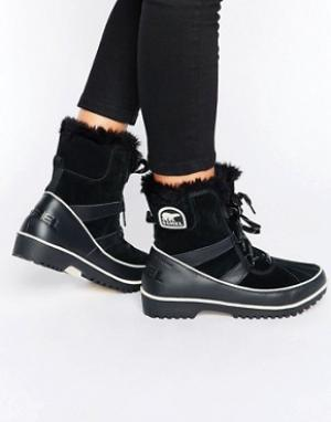 Sorel Ботинки на шнуровке Tivoli II. Цвет: черный