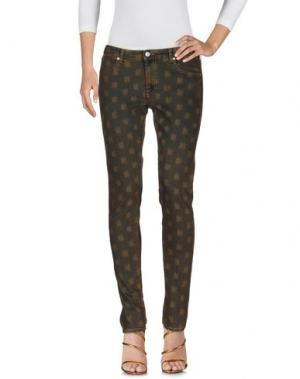 Джинсовые брюки MAURO GRIFONI. Цвет: коричневый