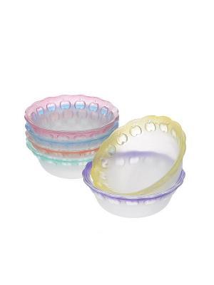 Набор цветных салатников KIG. Цвет: прозрачный