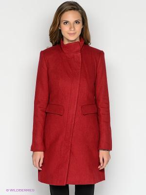 Пальто INCITY. Цвет: бордовый