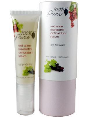 Питательная сыворотка для лица с антиоксидантами Ресвератрол красного вина 100% Pure. Цвет: кремовый