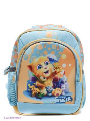 Рюкзак PROFF. Цвет: голубой, оранжевый