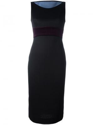 Приталенное вечернее платье Antonio Berardi. Цвет: чёрный