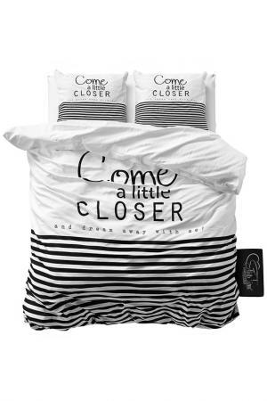 Комплект постельного белья Евро Sleeptime. Цвет: white, black