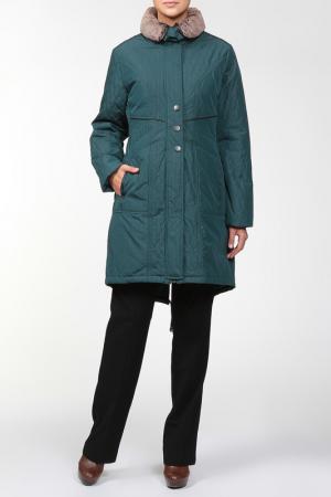 Пальто Loft. Цвет: зеленый