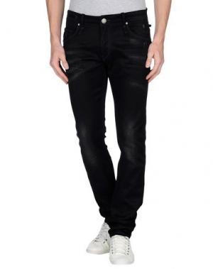 Джинсовые брюки ACHT. Цвет: черный