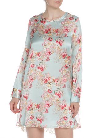 Легкое платье с цветочным принтом Coast+Weber+Ahaus. Цвет: голубой