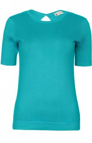 Вязаная футболка Colombo. Цвет: голубой