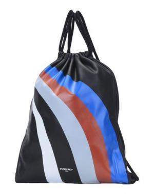 Рюкзаки и сумки на пояс POMIKAKI. Цвет: черный