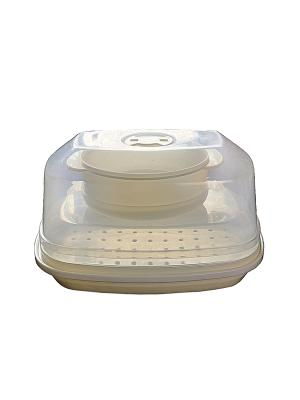 Набор пароварок для микроволновой печи (3 в 1) DEKOK. Цвет: прозрачный