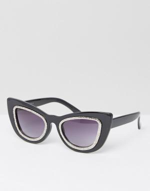 AJ Morgan Солнцезащитные очки кошачий глаз. Цвет: черный